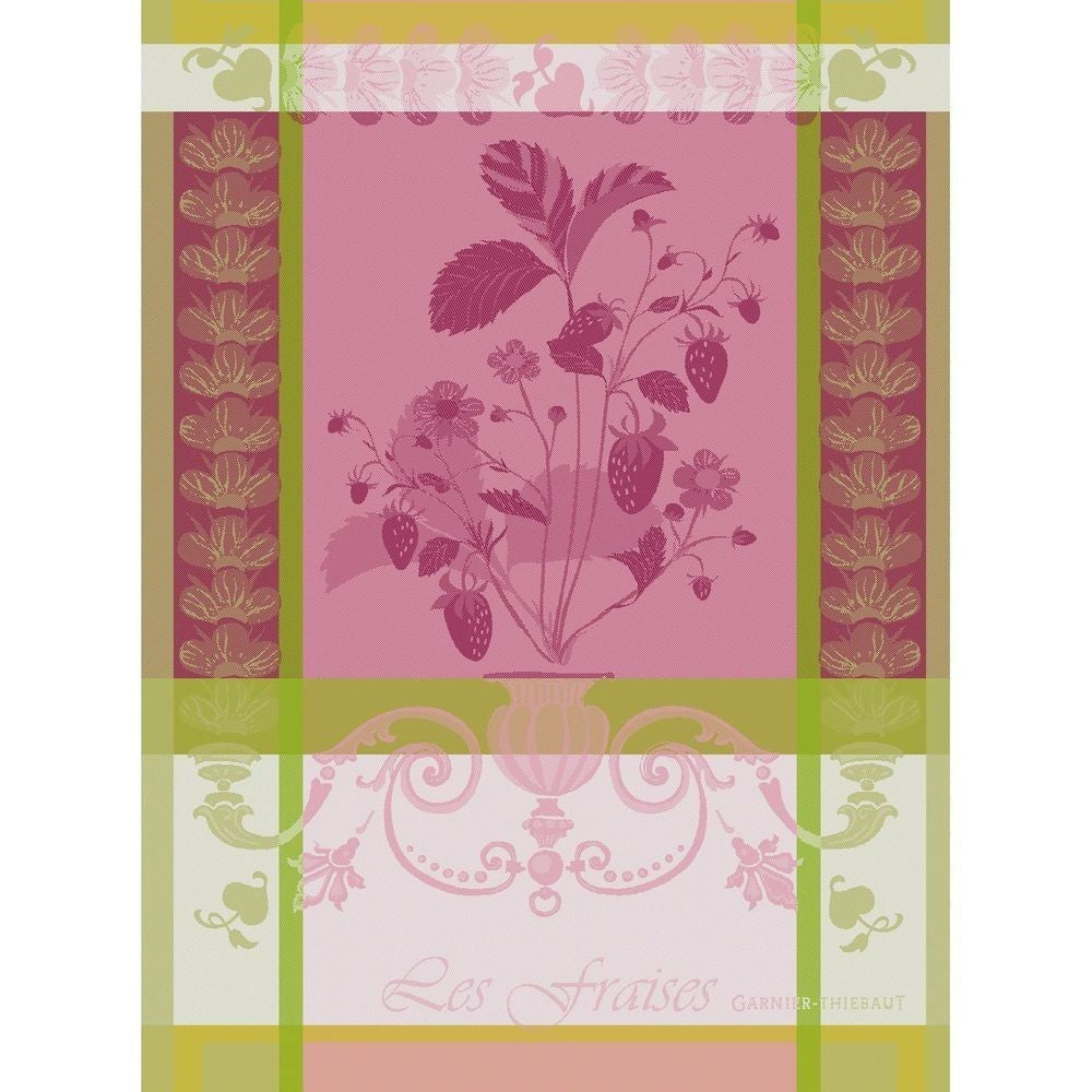 Tea Towel FRAISIER ROSE