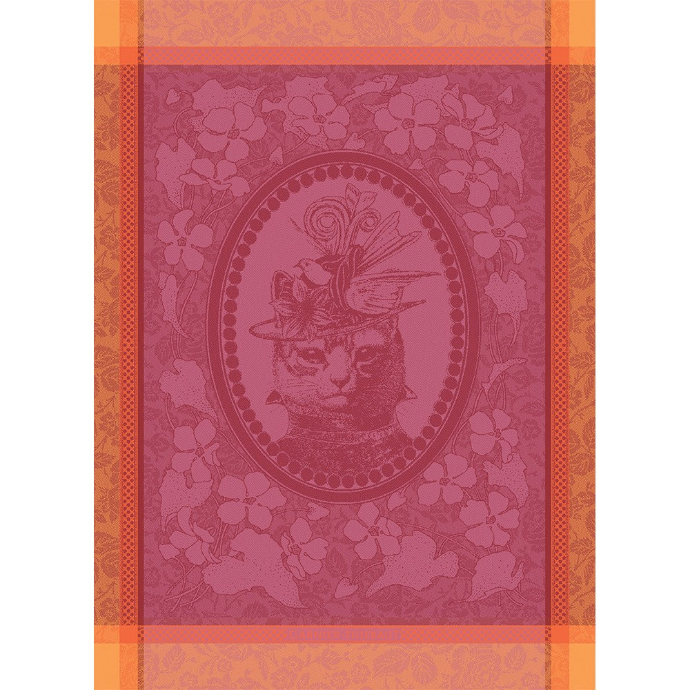 Tea Towel MADAME CHAT ROSE