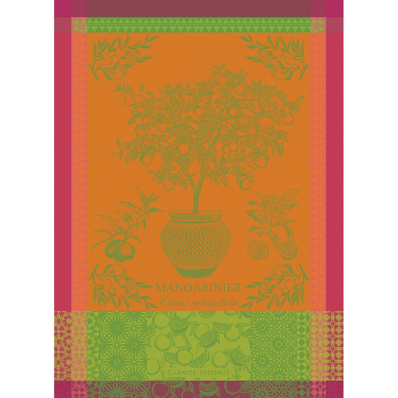 Tea Towel MANDARINIER EN POT ORANGE