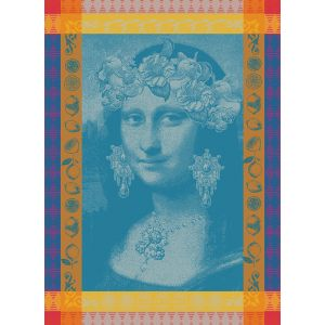 Tea Towel MONA LISA BLEU