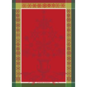 Tea Towel NOEL BAROQUE ROUGE
