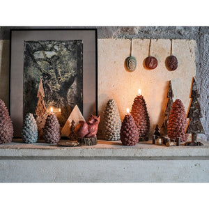 Pine Cone Candle Large Green