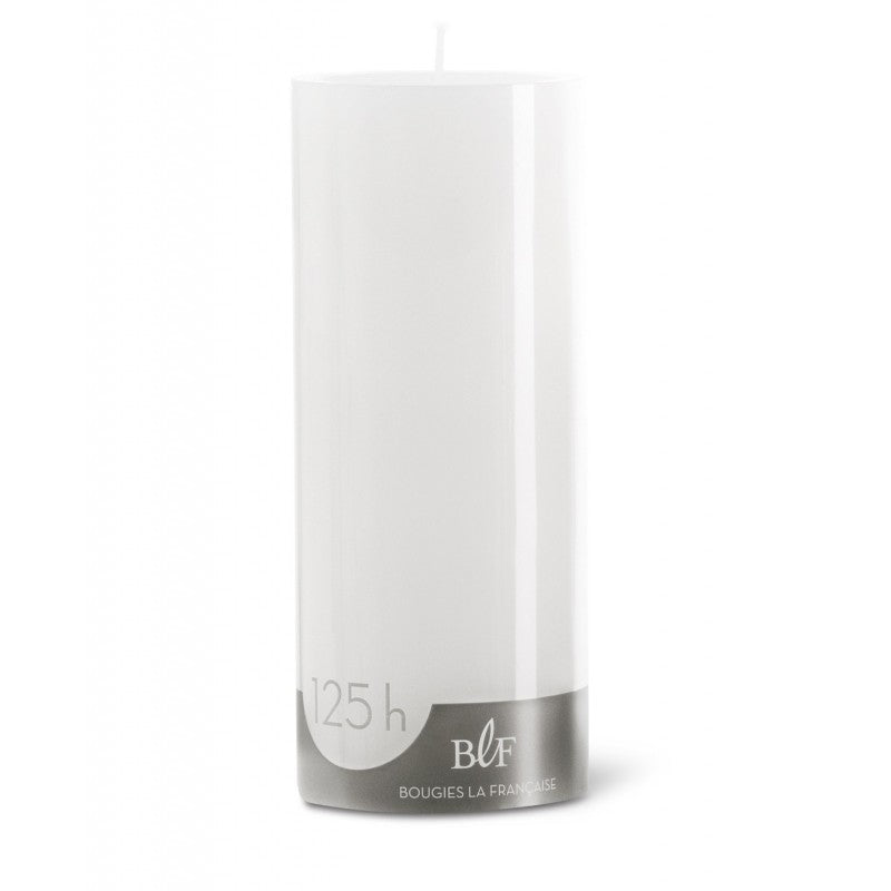 Pillar candle D.8cm H.20cm 125HRS White