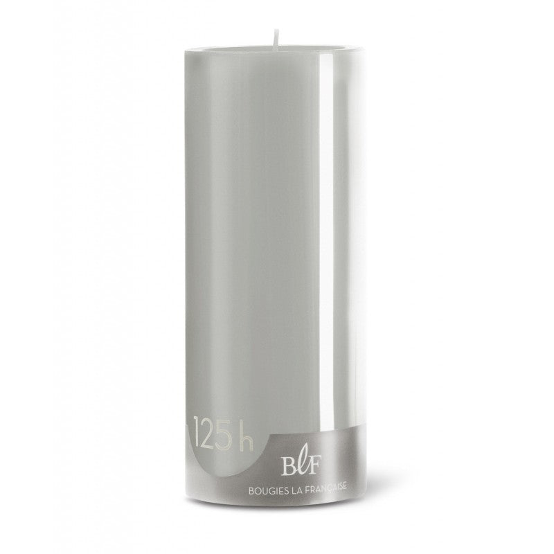 Pillar candle D.8cm H.20cm 125HRS Pearl Grey