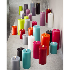 Pillar candle D.7cm H.15cm 75HRS Pearl Grey