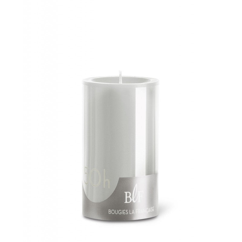 Pillar candle D.70mm H.100mm Pearl Grey