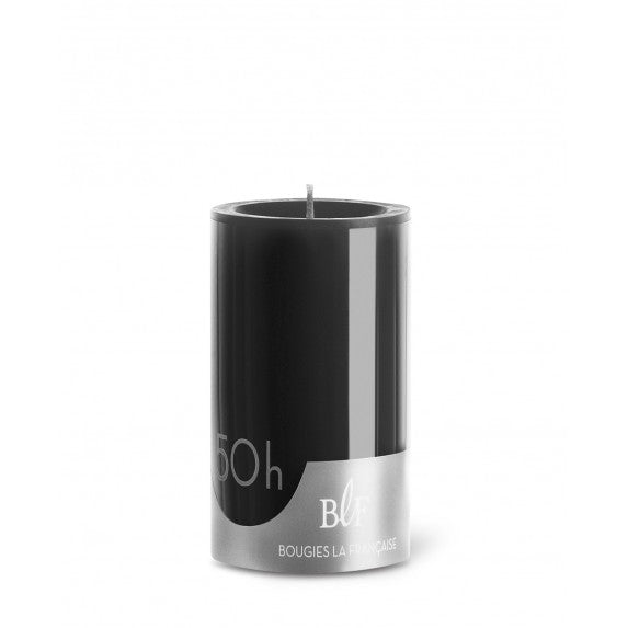 Pillar candle D.7cm  H.10cm 50 HRS Black