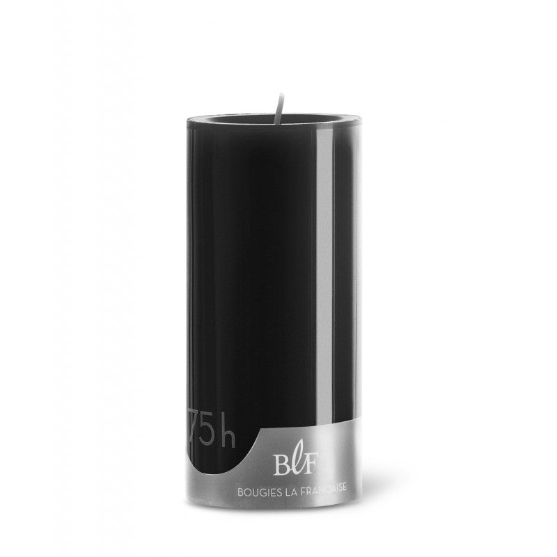 Pillar candle D.7cm H.15cm 75HRS Black