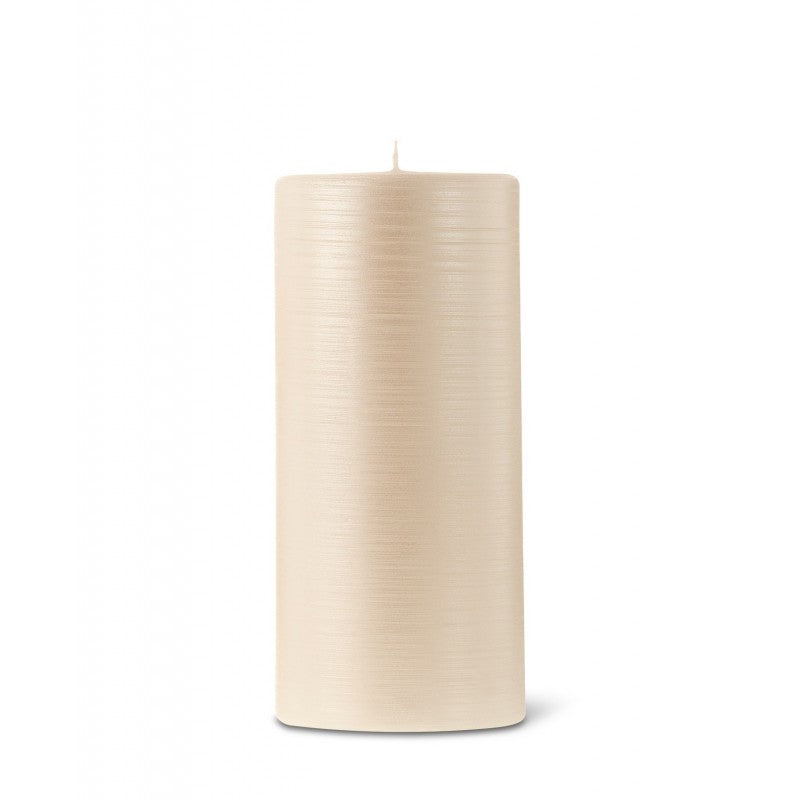 Pillar candle D.7cm H.15cm 25HRS Pearl