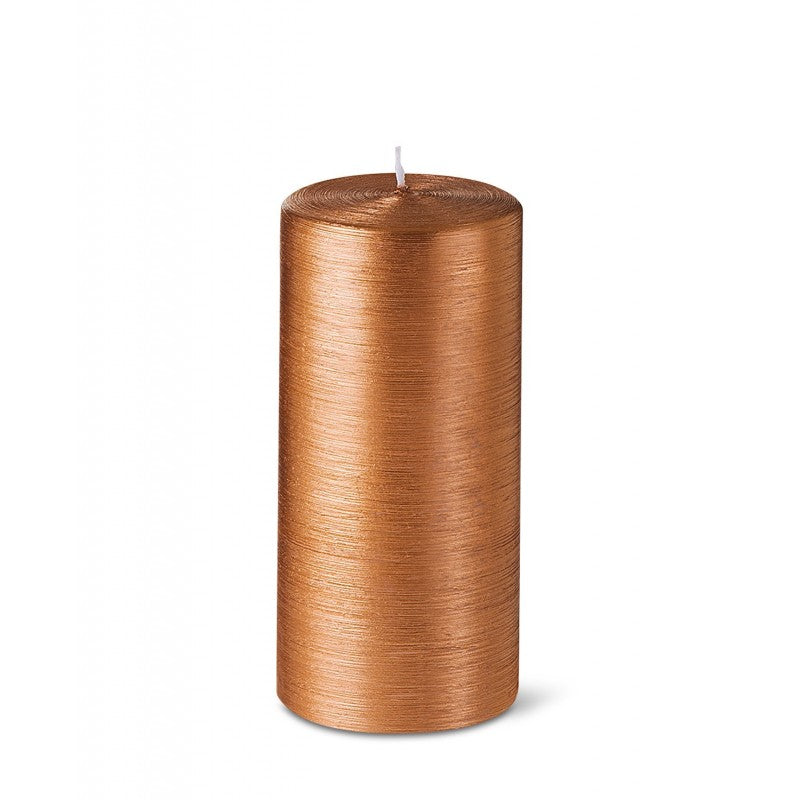 Pillar candle D.7cm H.15cm 25HRS Copper