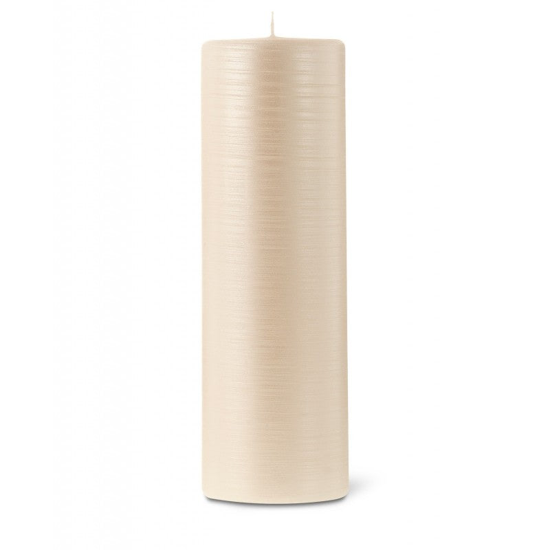 Pillar candle D.8cm H.25cm 40HRS Pearl
