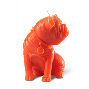 """SAM"" Dog Candle Coral"