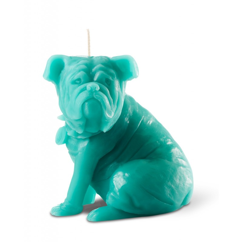 """SAM"" Dog Candle Turquoise"