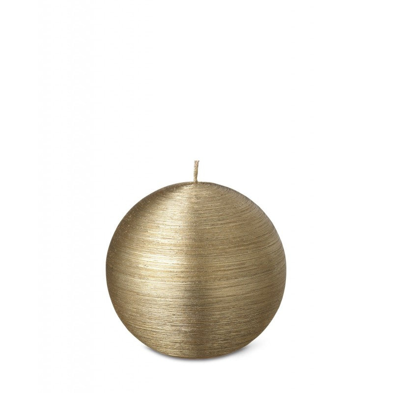 Ball Candle 6cm 7HRS Gold