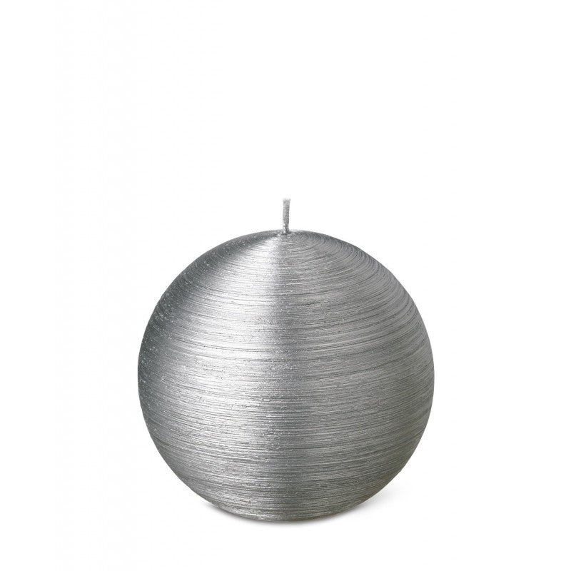 Ball Candle 8cm 15HRS Silver