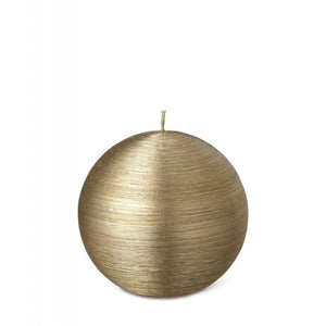 Ball Candle Gold 80mm