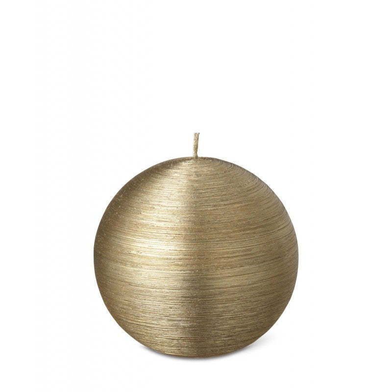 Ball Candle 8cm 15HRS Gold