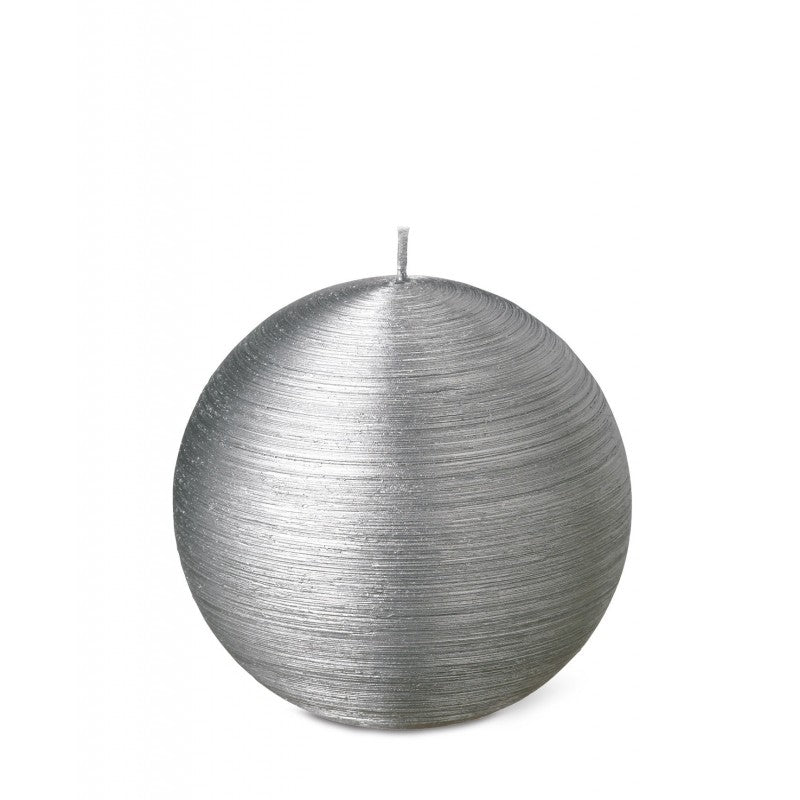 Ball Candle 10cm 20HRS  Silver