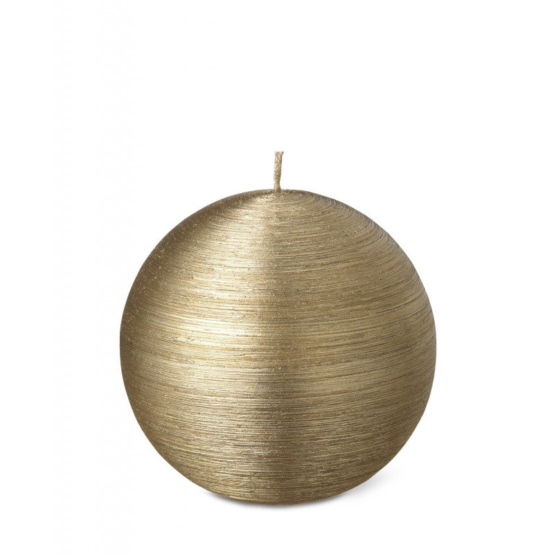 Ball Candle +/-20 Hours 10 cm Gold