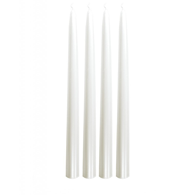 Dinner Candle Tapered D.22mm H.290mm Pearl White