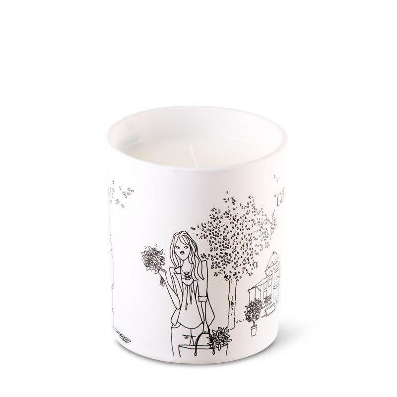 Scented Candle in Designer Gift Box - Girly Flower