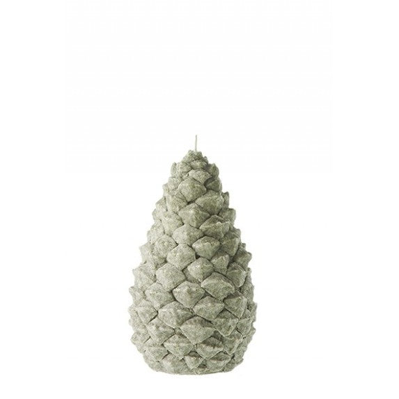 Pine Cone Candle Green