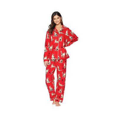Cat's Pajamas Haiku Flannel Pajamas