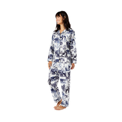 Cat's Pajamas - Safari Toile Luxe Pima Pajamas