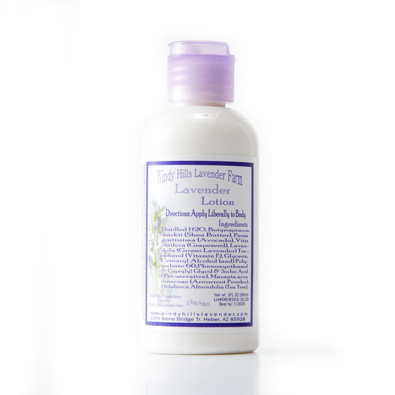 Windy Hills - Travel Lotion 3 oz - Lavender