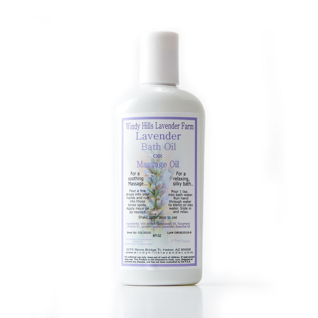 Windy Hills - Massage & Bath Oil - Lavender