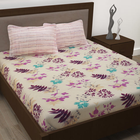 Story@Home 186 Tc 1 Double Bedsheet with 2 Pillow Covers