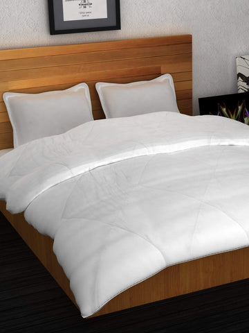 Soft Micro Fiber Double Comforter - White Story@Home