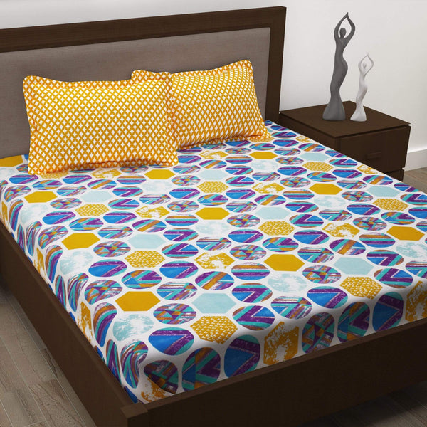 Story@Home 186 Tc 1 Double Bedsheet with 2 Pillow Covers Story@Home