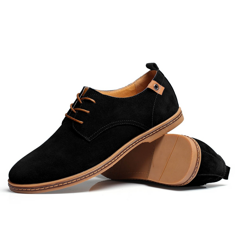 The Marina Suede Derby Shoe Onyx Black