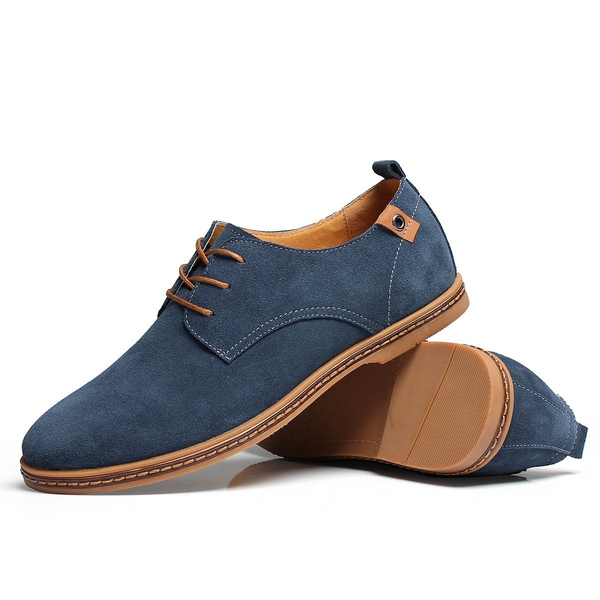 The Marina Suede Derby Shoe Lapis Blue