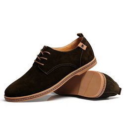 The Marina Suede Shoe Derby Shoe Hickory Brown