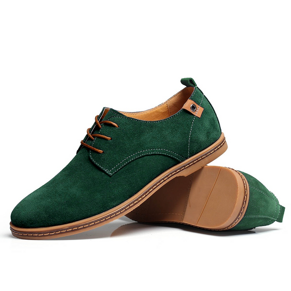 The Marina Suede Shoe Emerald Green