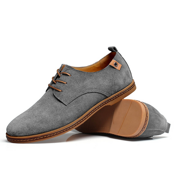 The Marina Suede Shoe Derby Cloud Grey