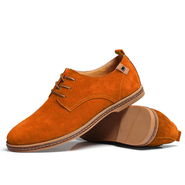 The Marina Suede Derby Shoe Rawhide Tan