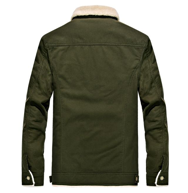 The Stonybrook Fleece-Lined Borg Collar Jacket Forest Green