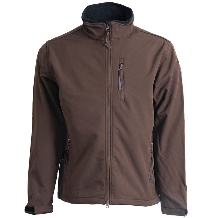 Unisex Short Round Jacket - Brown