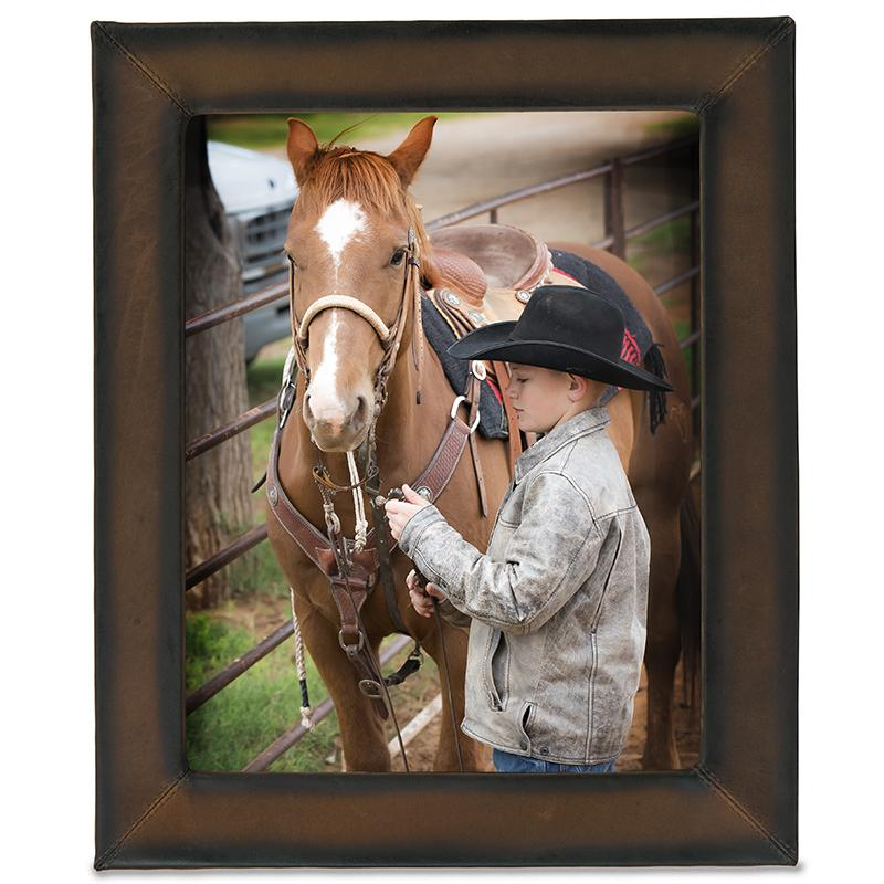 Genuine Leather Picture Frame 8x10