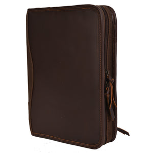 Chocolate Canvas Binder