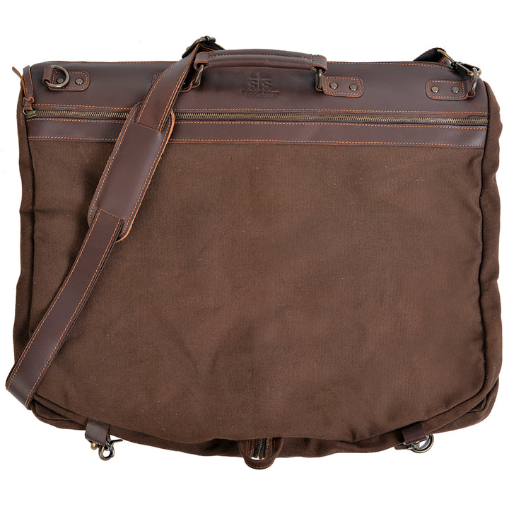 Foreman Chocolate Canvas Garment Bag