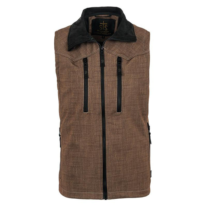 Men's Perf Vest - Brown Plaid