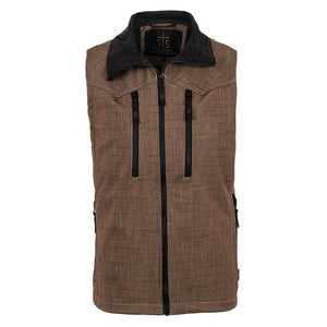 Youth Perf Vest - Brown Plaid