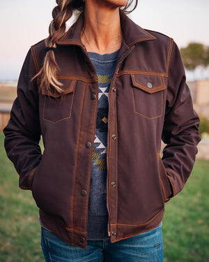 Ladies Brumby Jacket - Brown