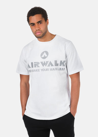 Airwalk - T-Shirt Stampa Argentata
