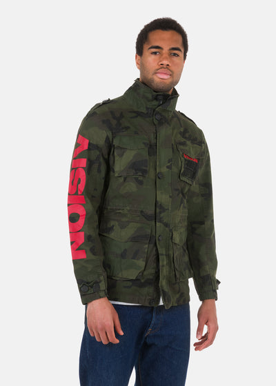 Vision Street Wear - Giacca Camouflage Ricamata