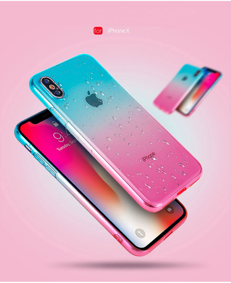 Gradient Clear Case For iPhone 6 6S 7 8 Plus Cover Soft Silicone Case For iPhone X XS Max XR 5S SE 5 Phone Accessories